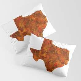 Texas State Map Art Design Pillow Sham