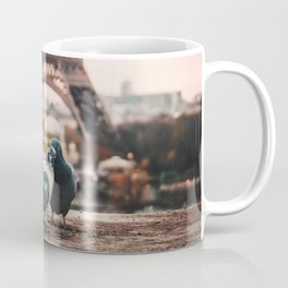 Lover Doves in Paris Coffee Mug
