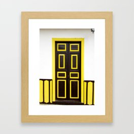 Doors - Brown and Yellow Framed Art Print