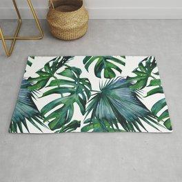 Tropical Palm Leaves Classic II Rug