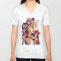 kill bill V-neck T-shirts featuring Kill Bill by Ale Giorgini