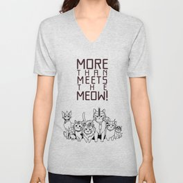 More than meets the cat! Unisex V-Neck
