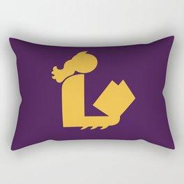 Lady Bat Reads Rectangular Pillow