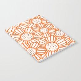 Field of daisies - orange Notebook