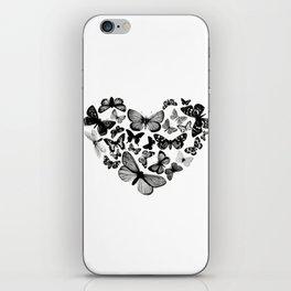 BUTTERFLY LOVE MONO iPhone Skin