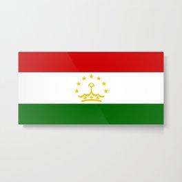 Tajikistan Flag Metal Print