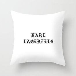 Karl Lagerfeld Calligraphy Throw Pillow