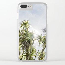 Cornish Palms Clear iPhone Case