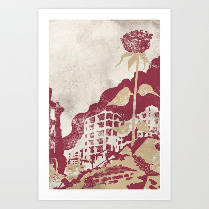 The Militancy Of A Flower Art Print