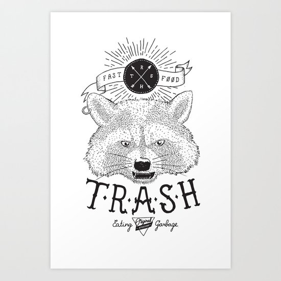 Eating trash Art Print