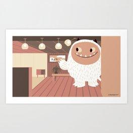 Office Monster Art Print