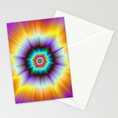 Violet Orange and Turquoise Explosion Stationery Cards