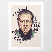 christopher walken Art Prints featuring Christopher Walken by Ella Betts