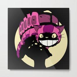 Cheshire no Totoro (Black) Metal Print