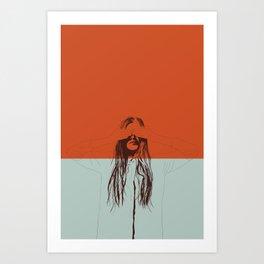 Woman Color 2 Art Print