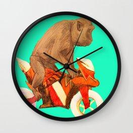 MONKEY BIKER Wall Clock