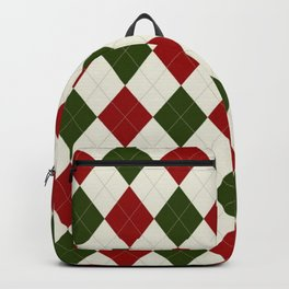 Christmas Argyle Pattern Backpack