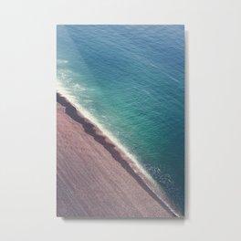 Beach Aerial II Metal Print