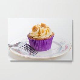 Banoffee Cupcake Metal Print