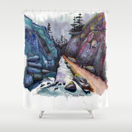 Eleven Mile Canyon, Colorado Shower Curtain