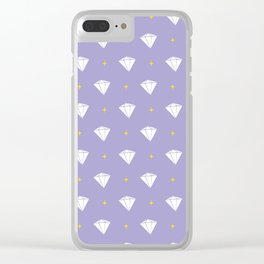 Diamonds - purple pattern Clear iPhone Case