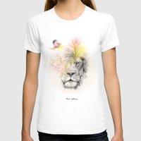 lion T-shirts featuring lion  by mark ashkenazi