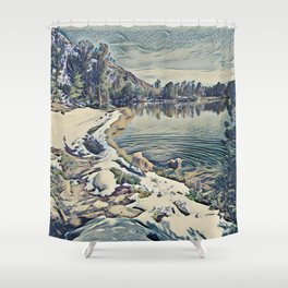 Mountain Lake Trail, California Shower Curtain