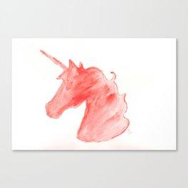 Unicorn Head Canvas Print
