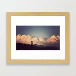 Pink Clouds Framed Art Print