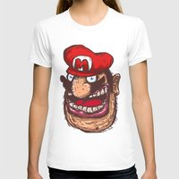 mario T-shirts featuring Mario by Lime