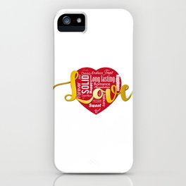 Words of love iPhone Case