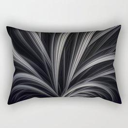 FANDOM light grey black ribbons abstract design Rectangular Pillow