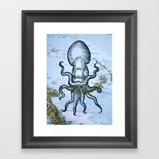 Octopus in the Solomon Sea Framed Art Print