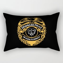 Grammar Police To Serve And Correct Rectangular Pillow