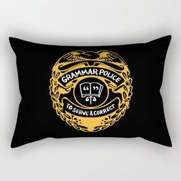 Grammar Police To Serve And Correct Rectangular Pillow