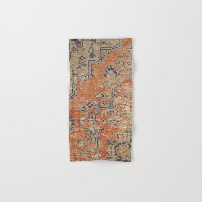 Vintage Woven Navy and Orange Hand & Bath Towel