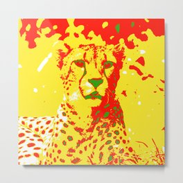 Pop Art Cheetah Metal Print