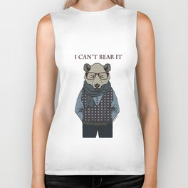 I CAN'T BEAR IT Biker Tank