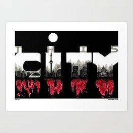 THIS CITY Art Print
