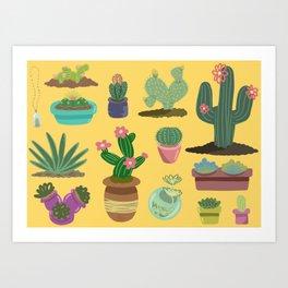 Desert Plants Art Print