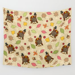 Thanksgiving Turkey pattern Wall Tapestry