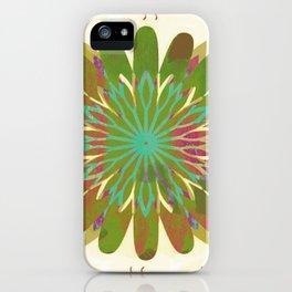 Gold flower pattern iPhone Case