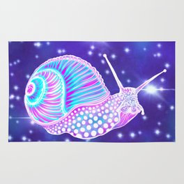 Psychedelic Galaxy Snail Rug