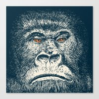 gorilla Canvas Prints featuring Gorilla by Lara Trimming