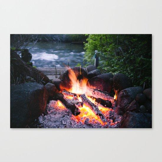River & Fire Canvas Print