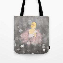 Blonde Ballerina Dancer Tote Bag