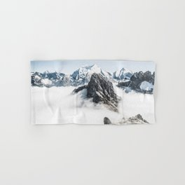 Mountain Tops Above Clouds And Snow Hand & Bath Towel