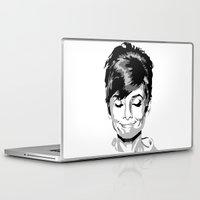 hepburn Laptop & iPad Skins featuring Audrey Hepburn by Geryes