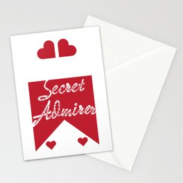 Cute & lovely Admirer Tee Design Admirer loves you Stationery Cards