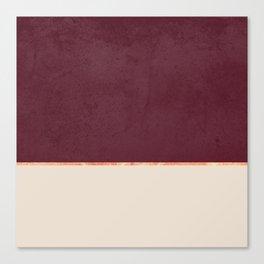 BURGUNDY NUDE GOLD MINIMALIST Canvas Print